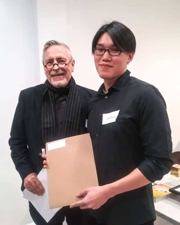 Bronze award winner GuangYan Lim with Charles Hively